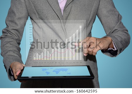 Business graph of success.  - stock photo