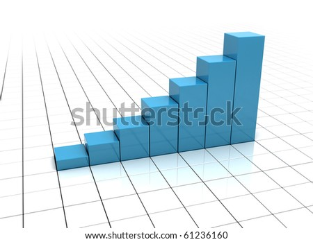 Business Graph on white - stock photo