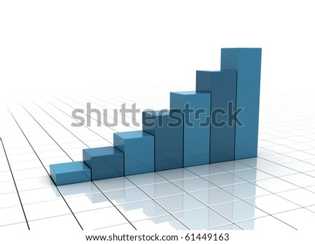 Business Graph -  profits and gains - stock photo
