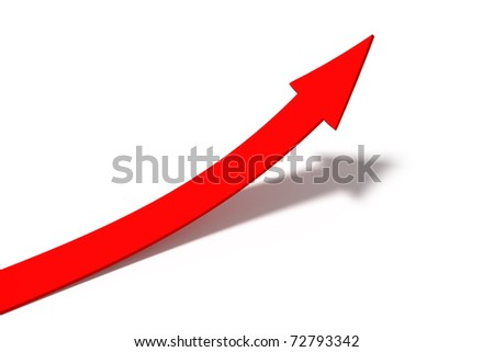 Business Graph, red arrow - stock photo