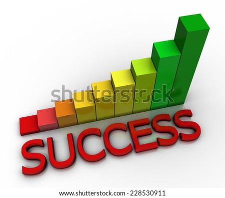 Business Graph Success - stock photo