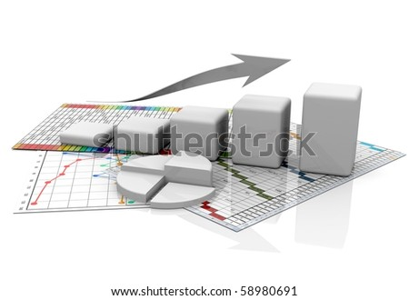 Business graphic, chart, diagramm, bar - stock photo