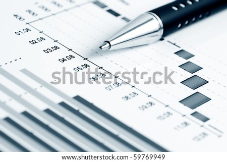 Business graphs. - stock photo