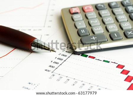 Business graphs and charts. - stock photo