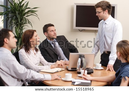 business group  coaching - stock photo