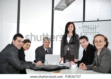 Business group meeting portrait