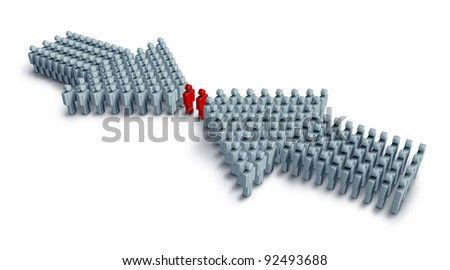 Business groups meeting to form and join a successful partnership as a unified team working together in cooperation as one financial force to plan and grow profits and stability strength - stock photo