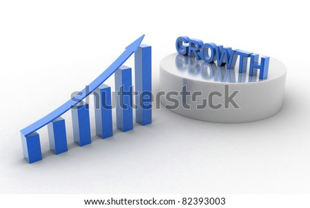 Business growth concept isolated white background