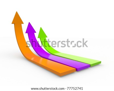 Business growth. 3d illustration