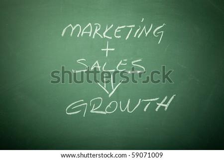 Business Growth Plan  Concept on Blackboard - stock photo