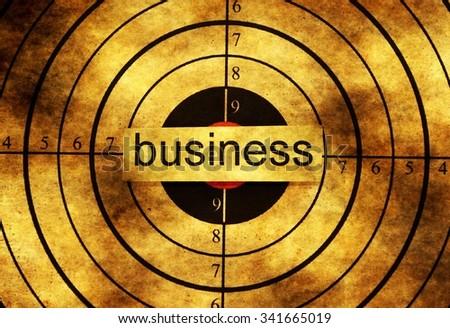 Business grunge target - stock photo