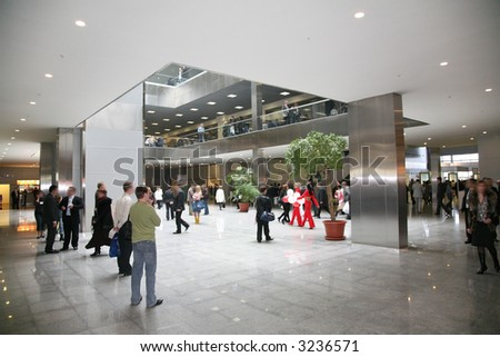 business hall 2 - stock photo