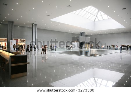 business hall 4 - stock photo