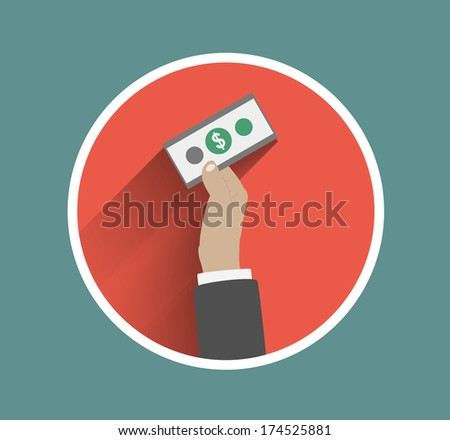 Business hand action concepts purchase. Raster version - stock photo