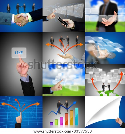 business hand collection - stock photo