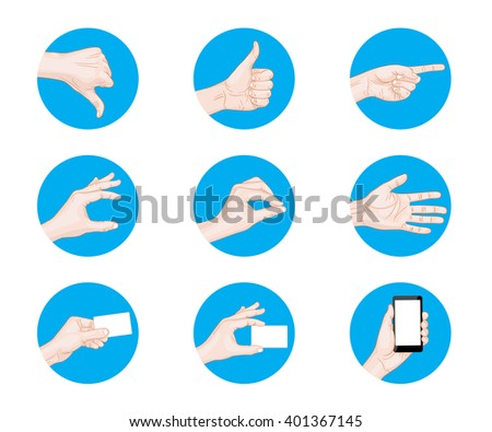 business hand gestures icon illustration