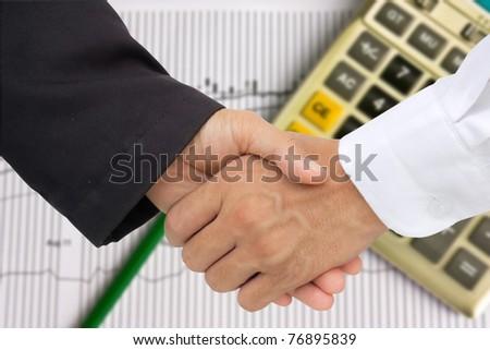 business hand shack - stock photo