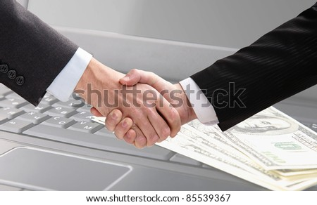 Business hand shake of two businessmen