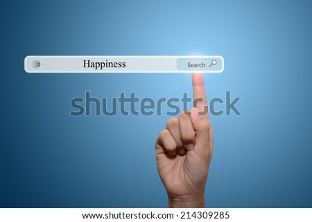 Business Hand Showing Happiness - stock photo