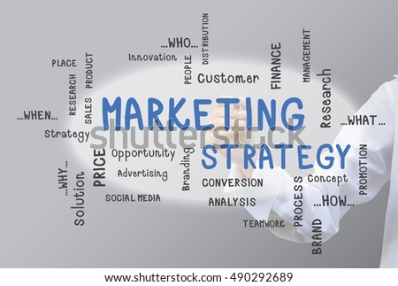 Business Hand Write Marketing Diagram Concept