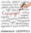 business hand writing copyright concept - stock photo