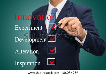 business hand writing innovation concept