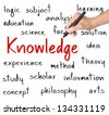 business hand writing knowledge concept - stock photo