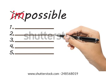 Business hand writing possible concept - stock photo