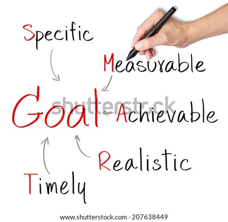 business hand writing smart goal concept - stock photo