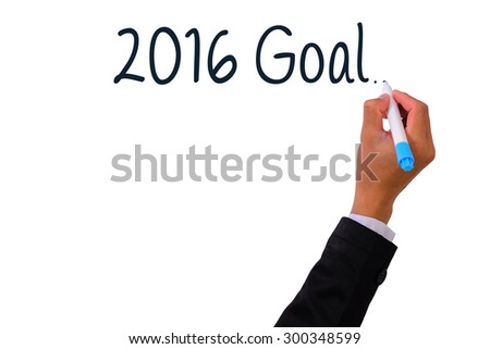 Business  Hand writing with marker  2016 goal,Concept for Success - stock photo