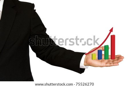 Business Hands and business graph.