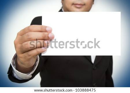 business hands, man in suit - stock photo