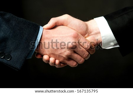 Business handshake after striking a deal - stock photo