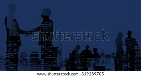 Business Handshake Agreement Deal White Collar Worker Concept