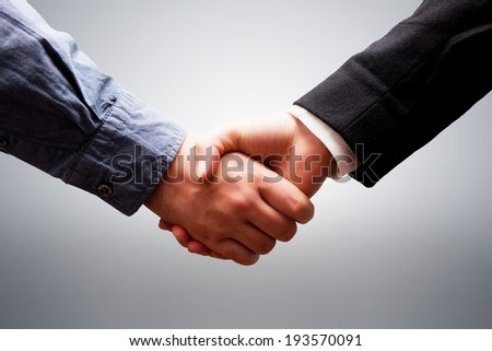 Business handshake. Deal, success, contract, cooperation concepts - stock photo