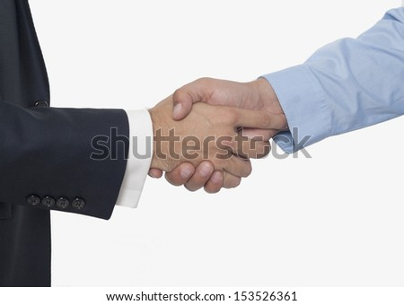 Business Handshake on White Background