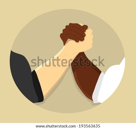 Business handshake. Vector version also available in gallery - stock photo