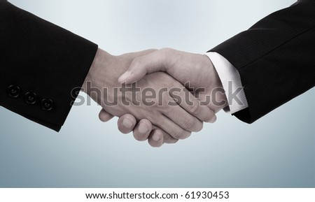 business handshake with old colors
