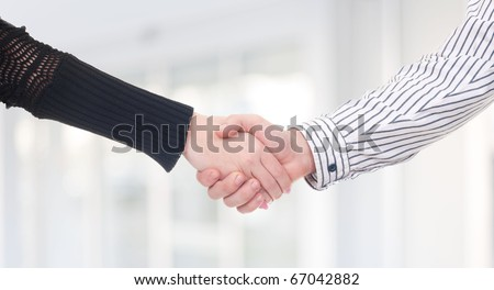 Business handshakeing