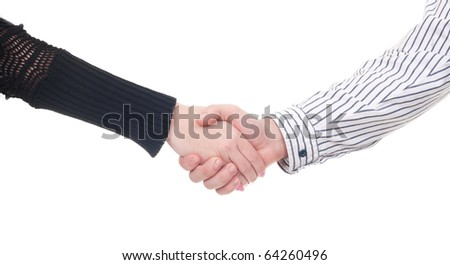 Business handshakeing  isolate on white background