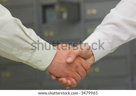 business handshaking - stock photo