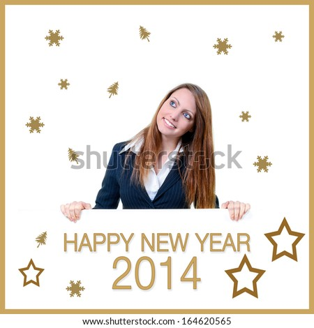 Business Happy New Year 2014 - stock photo