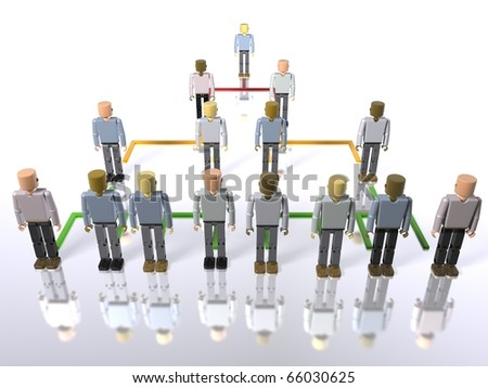 Business hierarchy - top to bottom - stock photo