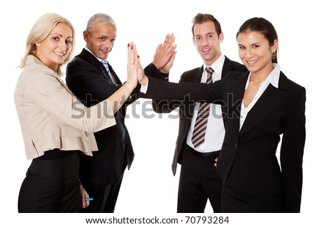 Business high five - stock photo
