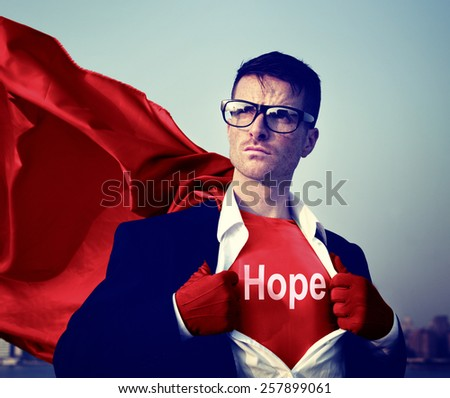Business Hope Praying Aspiration Victory Concept - stock photo