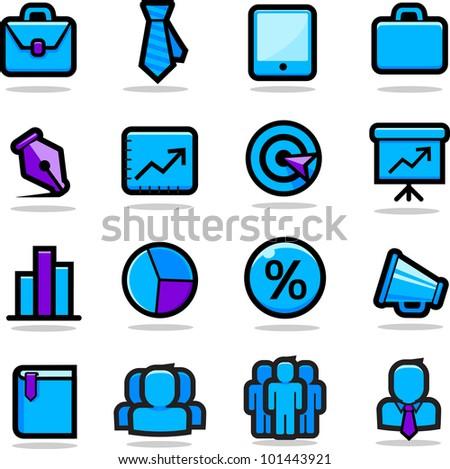 Business Icons Set - stock photo