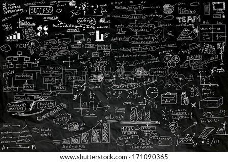 business idea concept on black paper - stock photo