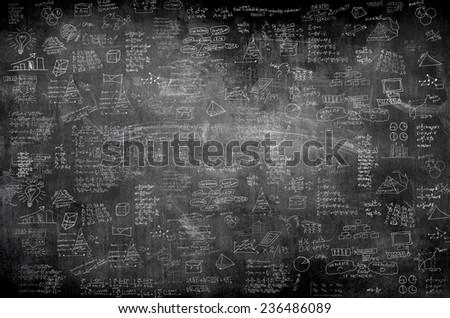 business idea concept on wall backboard blackground - stock photo