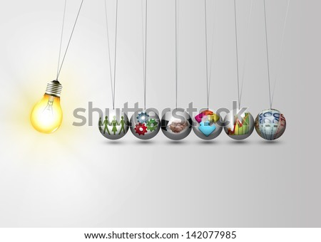 Business idea concept - work together  - stock photo
