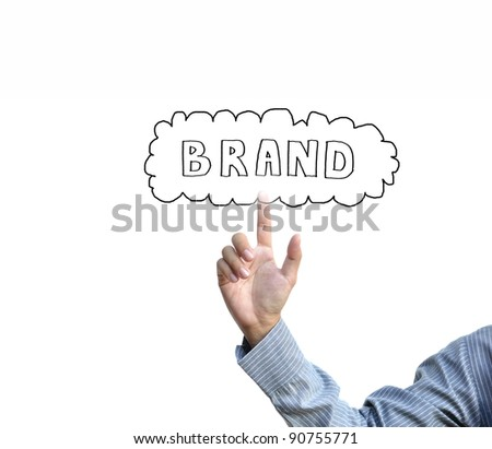 business idea from business person. - stock photo